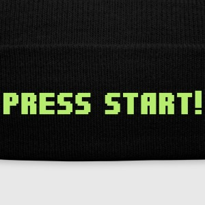 Press Start! Sportswear - Knit Cap with Cuff Print