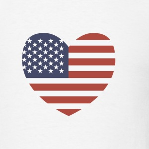 USA Heart - Stars & Stripes T-Shirts - Men's T-Shirt