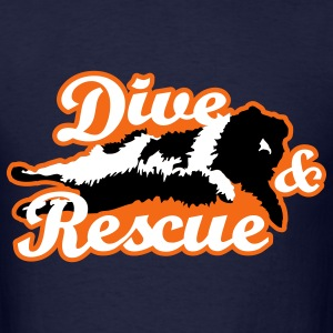 newfoundland__dive_and_rescue__black_whi T-Shirts - Men's T-Shirt