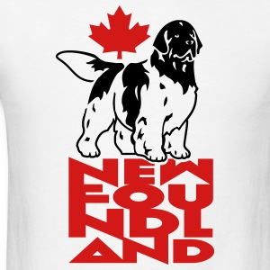 newfoundland__can_white__black_white__2c T-Shirts - Men's T-Shirt