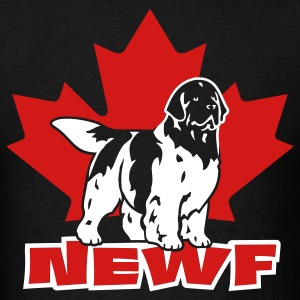 newfoundland__newf__black_white__can__2c T-Shirts - Men's T-Shirt