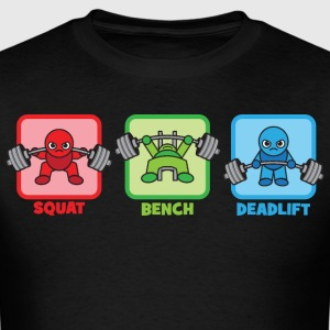 Kawaii Powerlifter - Squat, Bench Press, Deadlift T-Shirts - Men's T-Shirt
