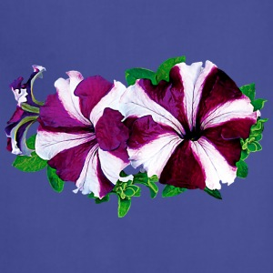 Magenta and White Petunia Aprons - Adjustable Apron