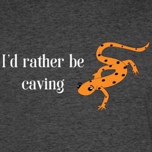 I'd rather be CAVING Salamander Mens - Men's 50/50 T-Shirt
