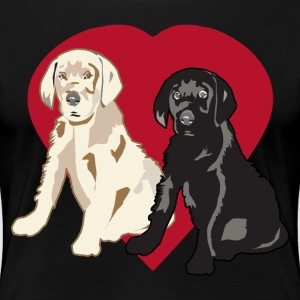 I Love Retriever Puppies - Women's Premium T-Shirt