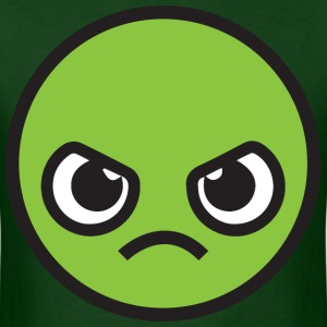 Kawaii Angry Face - green T-Shirts - Men's T-Shirt