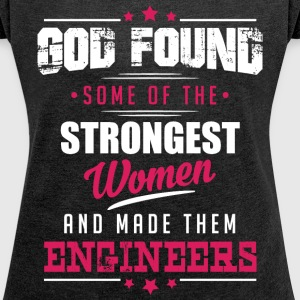 God Made Engineers T-Shirts - Women´s Roll Cuff T-Shirt
