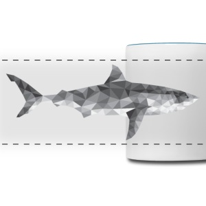 Polygon Shark / low poly design Mugs & Drinkware - Panoramic Mug