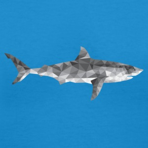 Polygon Shark / low poly design T-Shirts - Women's V-Neck T-Shirt