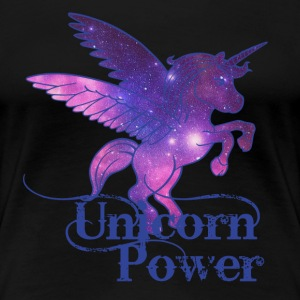Unicorn Power- galaxy T-Shirts - Women's Premium T-Shirt