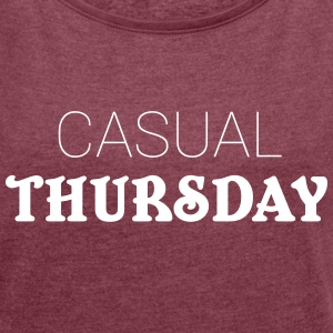 Casual Thursday T-Shirts - Women´s Rolled Sleeve Boxy T-Shirt