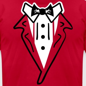 Tuxedo Gala and Party - Men's T-Shirt by American Apparel