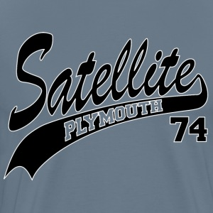 74 Satellite - White Outline T-Shirts - Men's Premium T-Shirt