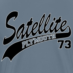 73 Satellite - White Outline T-Shirts - Men's Premium T-Shirt