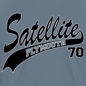 70 Satellite - White Outline T-Shirts - Men's Premium T-Shirt