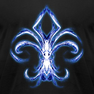 Blue Fleur De Lis T-Shirts - Men's T-Shirt by American Apparel