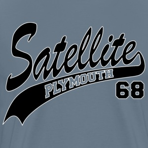 68 Satellite - White Outl T-Shirts - Men's Premium T-Shirt