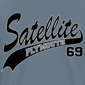 69 Satellite - White Outl T-Shirts - Men's Premium T-Shirt