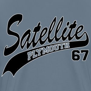 67 Satellite - White Outl T-Shirts - Men's Premium T-Shirt