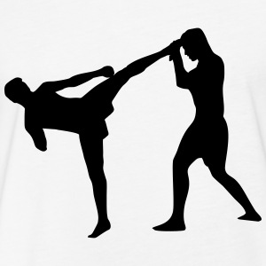 Kickboxing, Martial Arts T-Shirts - Fitted Cotton/Poly T-Shirt by Next Level