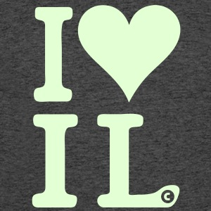 I Love Illinois IL Heart T-Shirts - Men's 50/50 T-Shirt