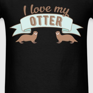 Otter - I love my Otter - Men's T-Shirt