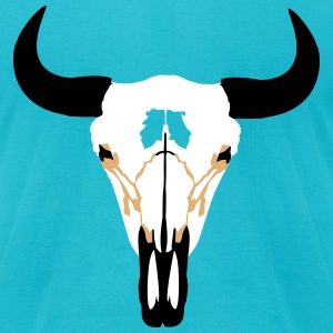 Buffalo Head, Bison T-Shirts - Men's T-Shirt by American Apparel