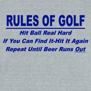 Rules Of Golf - Unisex Tri-Blend T-Shirt by American Apparel