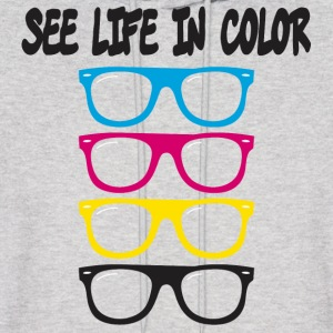 see life in color CMYK Hoodies - Men's Hoodie