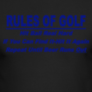 Rules Of Golf - Men's Long Sleeve T-Shirt by Next Level