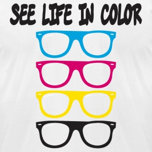 see life in color CMYK T-Shirts - Men's T-Shirt by American Apparel