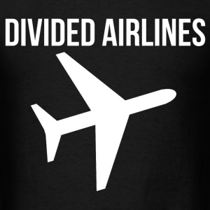 Fly DIVIDED AIRLINES Airplane Graphic Design Tee T-Shirts - Men's T-Shirt