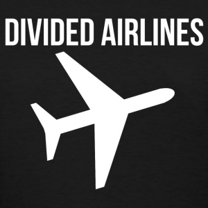 Fly DIVIDED AIRLINES Airplane Graphic Design Tee T-Shirts - Women's T-Shirt