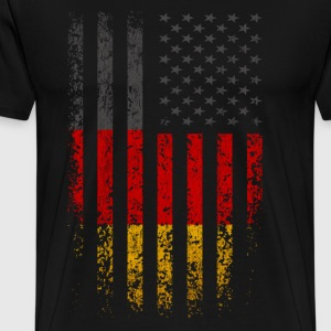 Germany USA Flag Grunge T-Shirts - Men's Premium T-Shirt