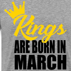 kings are born in march T-Shirts - Men's Premium T-Shirt
