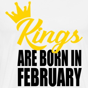 kings are born in februar T-Shirts - Men's Premium T-Shirt