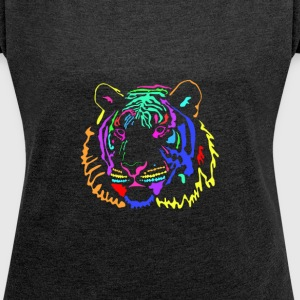 tiger colours T-Shirts - Women´s Roll Cuff T-Shirt