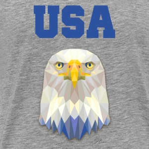 USA Eagle - by MEOW T-shirts - T-shirt premium pour hommes