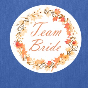team_bride_wreath_flower_power_orange Bags & backpacks - Tote Bag