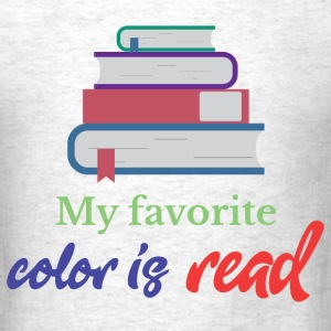 My favorite color is read T-Shirts - Men's T-Shirt