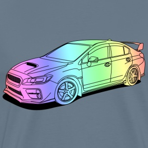 Subaru wrx sti colourful T-Shirts - Men's Premium T-Shirt
