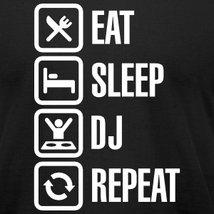 Eat Sleep DJ Repeat T-Shirts - Men's T-Shirt by American Apparel