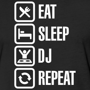 Eat Sleep DJ Repeat T-Shirts - Fitted Cotton/Poly T-Shirt by Next Level