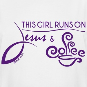 3XL - White and Purple - Jesus & Coffee - Men's Tall T-Shirt