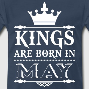Kings are born in May - Men's Premium T-Shirt