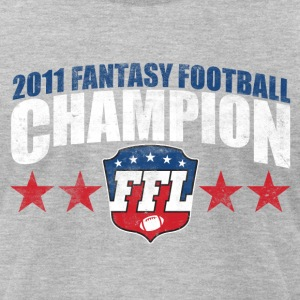 FANTASY FOOTBALL CHAMPION 2011 T-Shirts - Men's T-Shirt by American Apparel