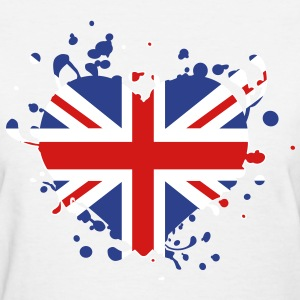 flag heart English British England london olympic games olympics Women's T-Shirts - Women's T-Shirt