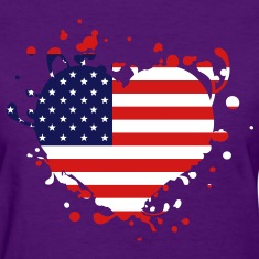 us america american flag united states heart