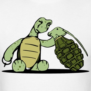 Curious Little Turtle - Men's T-Shirt