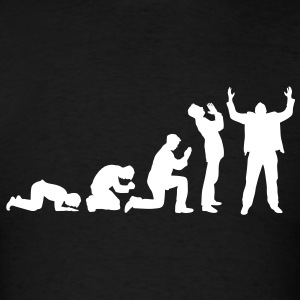 Evolution of praying T-Shirts - Men's T-Shirt